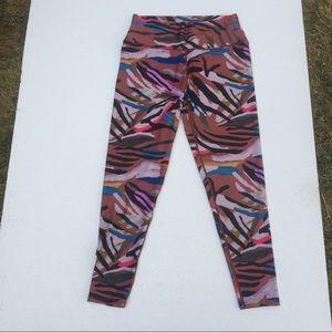 Betsey Johnson Leggings High Rise brown multi L